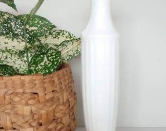 Vintage Milkglass Fluted Vase