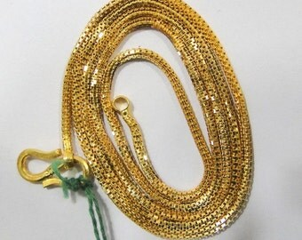 Vintage Antique Solid 22 K Gold Chain Necklace Rajasthan India