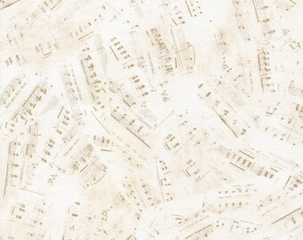 Sheet Music Notes, Timeless Treasures Fabric, Cotton Quilting Fabric, Cotton Fabric By The Yard, Fat Quarter, DIY Sewing Project, Quilts