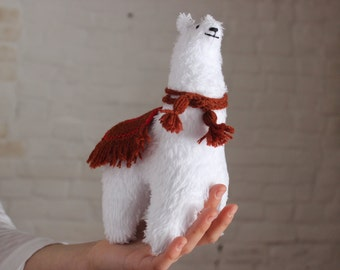 Soft toy white Llama, plush toy Llama, alpaca  stuffed toy