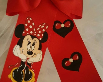 Boutique Minnie Handpainted Hairbow