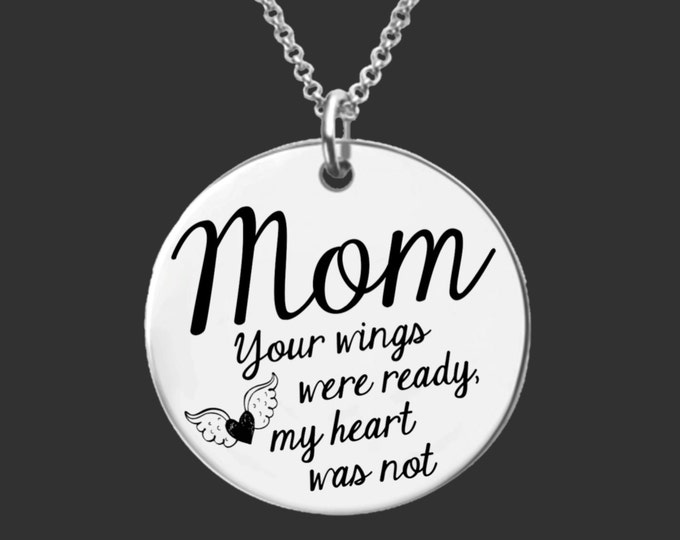 Memory Necklace | Memorial Jewelry | Memorial Gift | Gifts for Mom | Gifts for Mom | Sympathy Gift | Personalized Gifts | Korena Loves