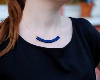 Necklace GLITTER Navy Blue