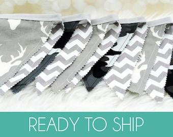 Fabric Bunting Decoration, Nursery Decor, Party Decoration, Fabric Flag Bunting, Fabric Pennant Banner, Fabric Pennant Bunting