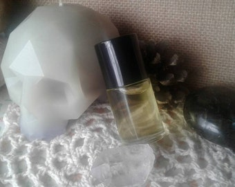 Sage Blessings - You Smell Purdy - High Quality Perfume Oil - Vegan - Gothic Goth Dusty Incense Scent - Grapeseed Oil - Organic Oils