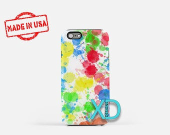 Paint Splatter iPhone Case, Paint Orbs iPhone Case,  Paint iPhone 8 Case, iPhone 6s Case, iPhone 7 Case, Phone Case, iPhone X Case, SE Case