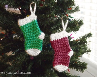 Christmas Ornament and Small Stocking Ornaments PDF 16-284