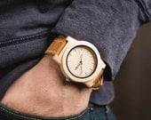 Wooden Watch, Wood Watch For Men, Geunine Leather Strap Wood Watch - KNTY-L