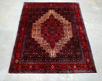 Persian Rug - 1980s Vintage, Hand-Knotted Senneh (3634)