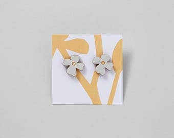 Wooden Flower Earrings - Primrose - Mother's Day Gift