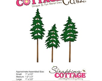 CottageCutz - Die - Forest Trees - 1in To 3.5in