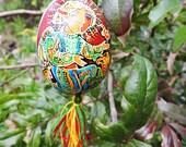 Ukrainian pysanky - Modern Easter egg - Angels with bird