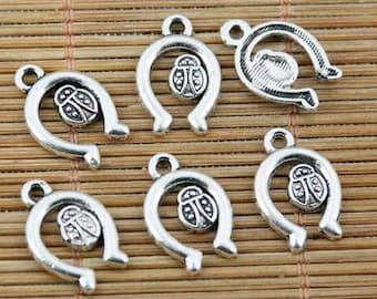 100pcs tibetan silver color U shaped charms EF2301