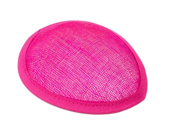 Hot Pink Sinamay Teardrop Fascinator Hat Base - Available in 16 Colors