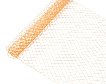 """1 Yard x 10"""" Orange Russian Millinery Birdcage Veil Netting - Available in 15 Colors"""