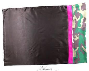 Camo Pink Stripe Pillowcase