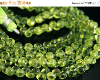 Sale AAA Peridot gemstone onion briolette- faceted peridot candy kiss briolette- August birthstone-set of 10 Pcs-5-5.3 mm-Item No.654
