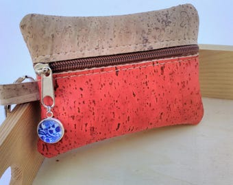 Portuguese Cork Card & Id Holder, Small Wallet, Change Coin Purse, Pouch, Key Holder, Eco-friendly, Portuguese Tiles, Azulejos, Cork