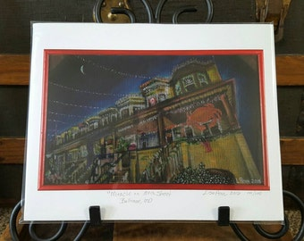 High Quality Archival Print of Miracle on 34th Street Christmas Lights in Baltimore, Maryland