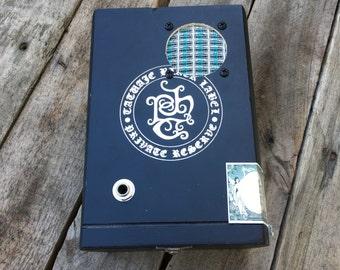 Cigar Box Bluetooth Speaker, Guitar Amplifier, Wired Speaker, Handmade Portable Amp - Tatuaje Black Label