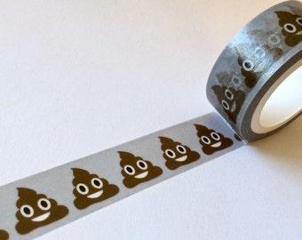 SALE NEW Washi Tape 'POOP Emoji'  15mm x 10 meters