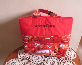 Boy's Tote, Cars Tote, Personalized Tote