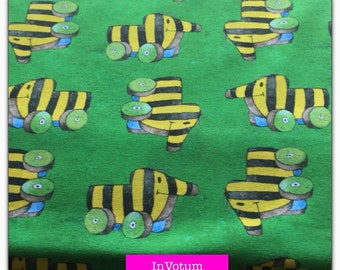 Cotton Jersey fabric, Janosh 50 cm, remaining green 1 m
