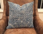 vintage chinese hmong faded batik pillow cover