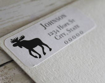 Moose, Return Address Label, Address Labels, Moose Labels, Mailing Labels, Moose Stickers