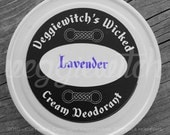 Lavender - Veggiewitch Cream Deodorant - All Natural - Vegan & Organic