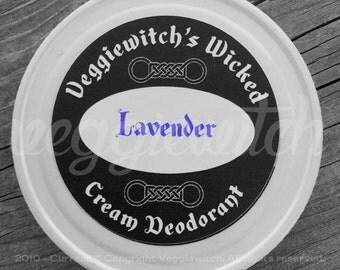 Lavender - Veggiewitch Cream Deodorant - All Natural - Vegan & Organic