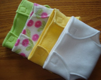 Diapers to fit dolls like Bitty Baby 15 inch Baby Doll  set of 4