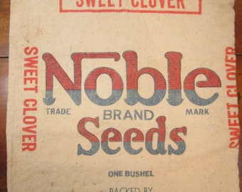 Noble Brand Seed Sack, Grain Sack, Canvas Seed Sack