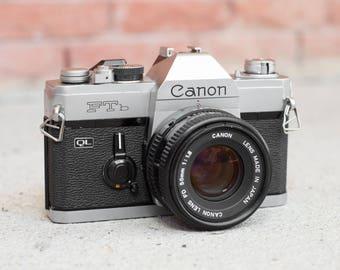 Canon FTb QL with 50mm f/1.8 Lens