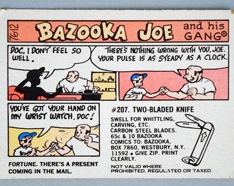 """1976 Bazooka Joe Comic Card  """"Doc I Don't Feel So Well""""   # 76-12"""