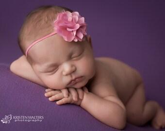 FREE SHIPPING! Bubblegum Pink Headbands, Bubblegum Pink Baby Headbands, Newborn Headbands, Baby Headbands, Pink Flower Headband