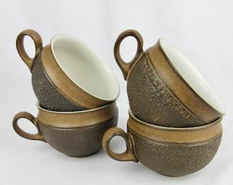 Vintage Denby Pottery, England Cotswald Cup / Mug Set