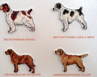 Cross Stitch Sporting Breeds magnets #1