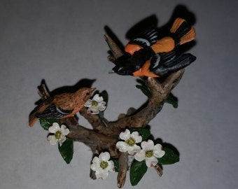 Mary McGrath Miniature Bird Sculpture Signed and Dated 1991