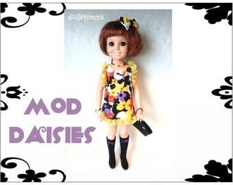 Vintage Ideal CRISSY Doll CLOTHES - Peachy Baby-Doll Dress - Handmade Custom Fashion - by dolls4emma