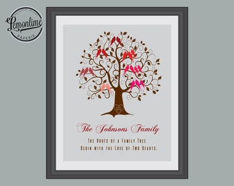 Grandparents Gift, Custom Family Tree Gift, Anniversary Gift, Christmas Parents Gift, Custom Family Gift, Grandparents Family Tree 022