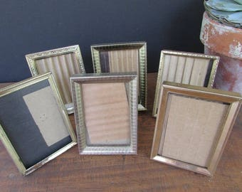 6 Small Vintage Gold Frames Collection Wedding Decor