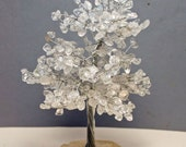 Orgone Clear Quartz Crystal Tree w/mix of Metals 8 1/2 inches high Holiday Sale!