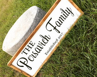 """Personalized Family name sign 12"""" x 36"""""""