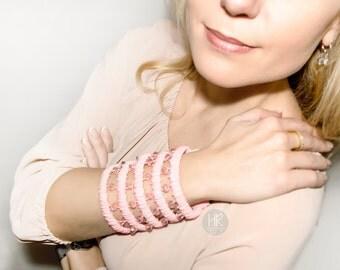 Bracelet wallet  Secret . Wide Wallet on your wrist . Wrist Wallet . Pink bracelet for money.  Secret bracelet.