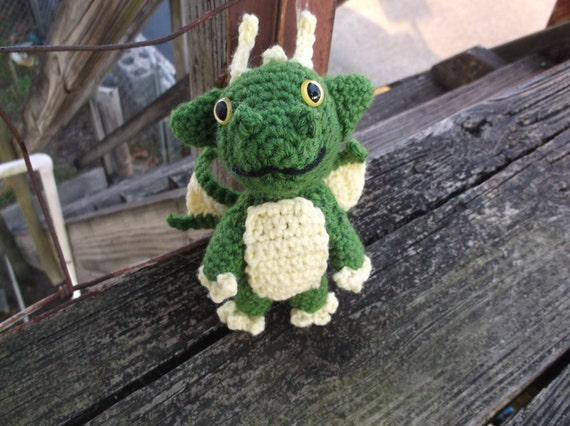 crochet dragon green and yellow dragon dragon amigurumi