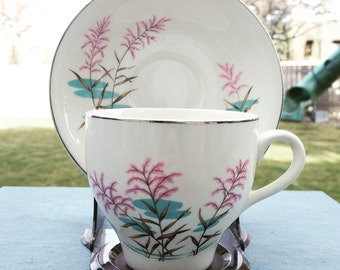 Vintage British Anchor Teacup and Saucer Pattern 1059 - Two Sets