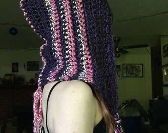 Pink and Purple Elf Hood