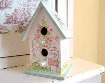 large painted birdhouse
