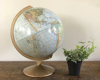 Vintage Replogle Land and Sea Globe